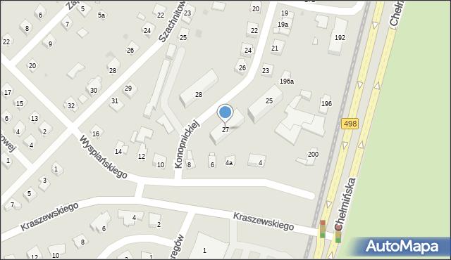 Grudziądz, Konopnickiej Marii, 27, mapa Grudziądza