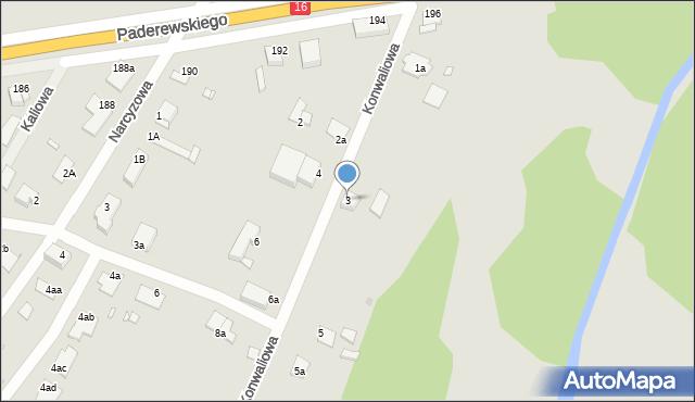 Grudziądz, Konwaliowa, 3, mapa Grudziądza
