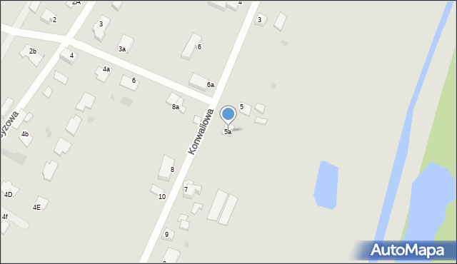 Grudziądz, Konwaliowa, 5a, mapa Grudziądza