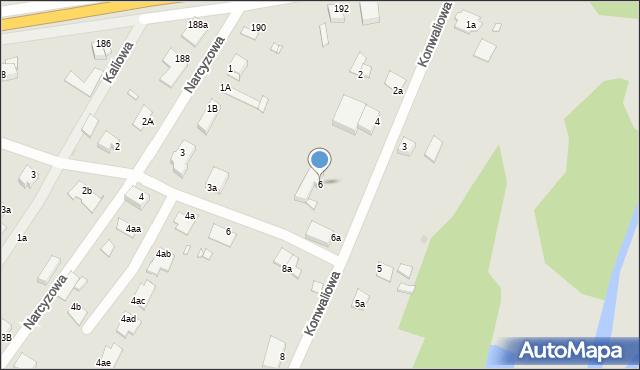 Grudziądz, Konwaliowa, 6, mapa Grudziądza