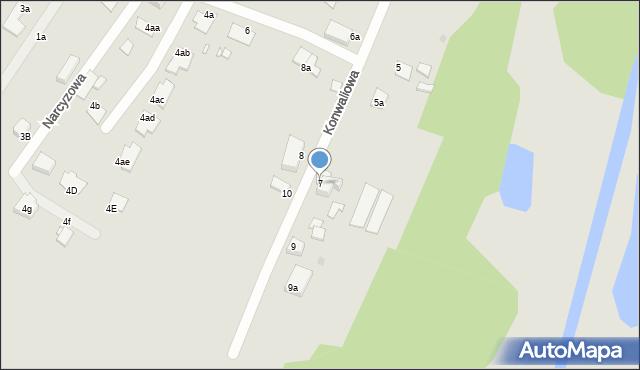 Grudziądz, Konwaliowa, 7, mapa Grudziądza