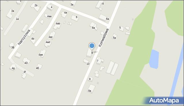 Grudziądz, Konwaliowa, 8, mapa Grudziądza