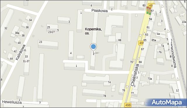 Grudziądz, Kopernika Mikołaja, 2, mapa Grudziądza