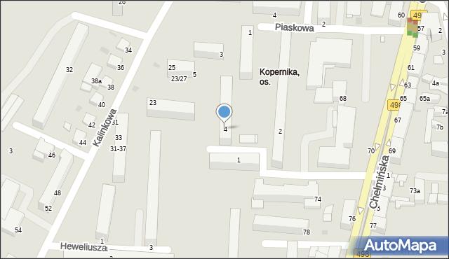 Grudziądz, Kopernika Mikołaja, 4, mapa Grudziądza