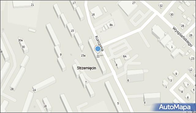 Grudziądz, Korczaka Janusza, 11, mapa Grudziądza