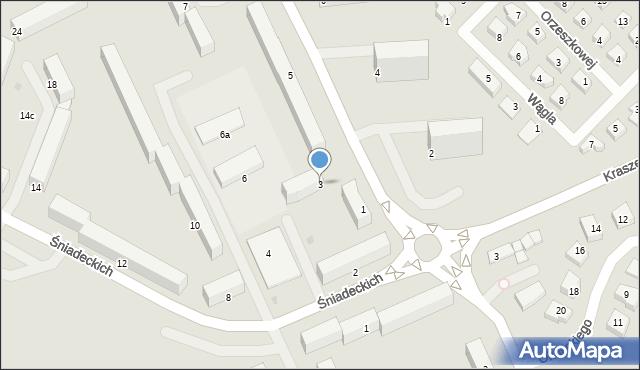 Grudziądz, Korczaka Janusza, 3, mapa Grudziądza