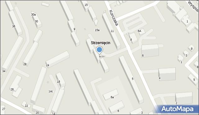 Grudziądz, Korczaka Janusza, 7, mapa Grudziądza