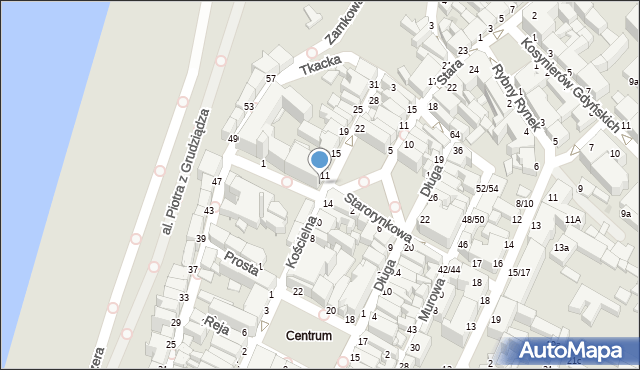 Grudziądz, Kościelna, 9, mapa Grudziądza