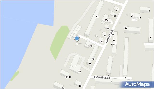 Grudziądz, Kosmonautów, 3, mapa Grudziądza