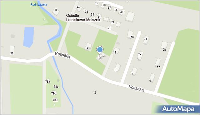 Grudziądz, Kossaka Wojciecha, 1a, mapa Grudziądza