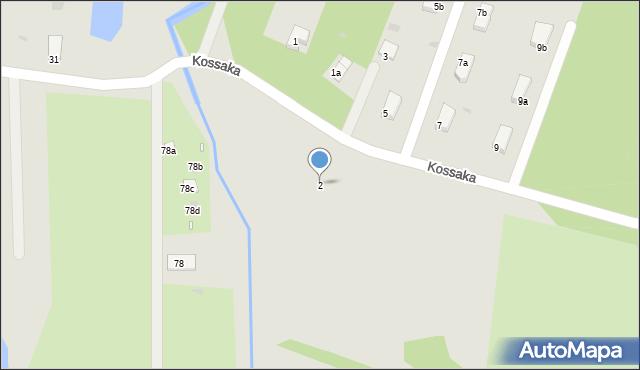 Grudziądz, Kossaka Wojciecha, 2, mapa Grudziądza