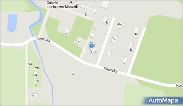 Grudziądz, Kossaka Wojciecha, 5, mapa Grudziądza