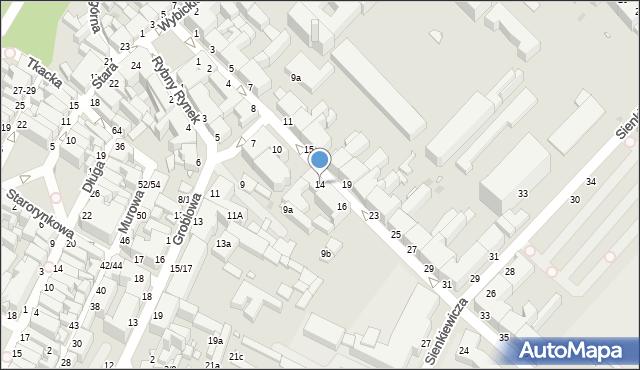Grudziądz, Kosynierów Gdyńskich, 14, mapa Grudziądza