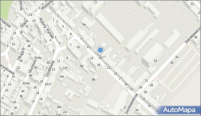 Grudziądz, Kosynierów Gdyńskich, 19, mapa Grudziądza