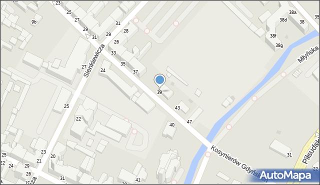 Grudziądz, Kosynierów Gdyńskich, 39, mapa Grudziądza