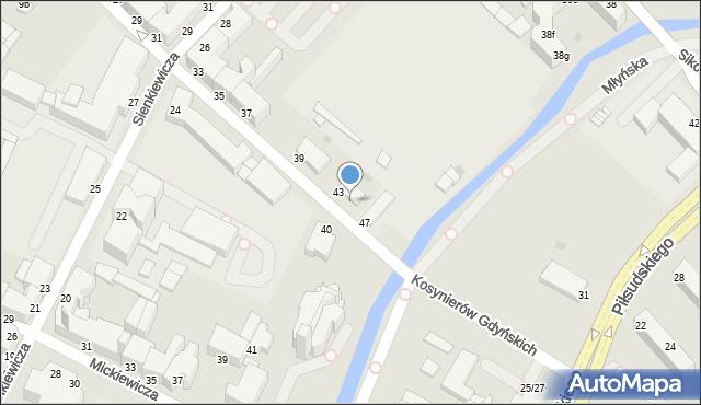 Grudziądz, Kosynierów Gdyńskich, 45, mapa Grudziądza