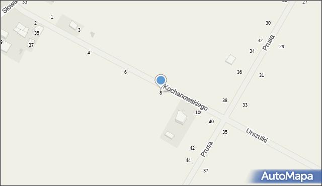 Janów, Kochanowskiego Jana, 8, mapa Janów
