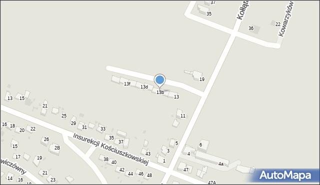 Jaworzno, Kołłątaja Hugo, 13b, mapa Jaworzno
