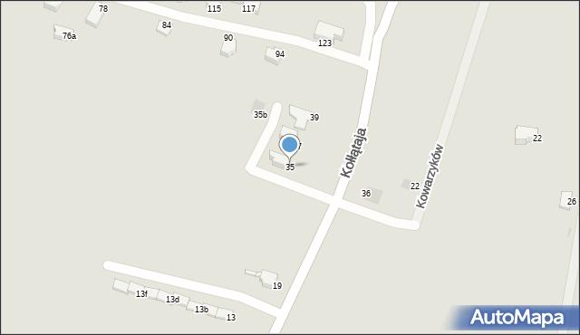 Jaworzno, Kołłątaja Hugo, 35, mapa Jaworzno