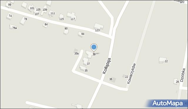 Jaworzno, Kołłątaja Hugo, 39, mapa Jaworzno