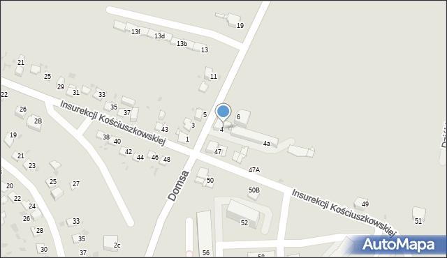 Jaworzno, Kołłątaja Hugo, 4, mapa Jaworzno