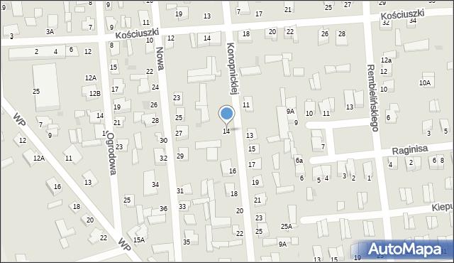 Jedwabne, Konopnickiej Marii, 12, mapa Jedwabne