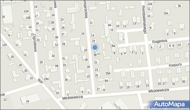 Jedwabne, Konopnickiej Marii, 19, mapa Jedwabne