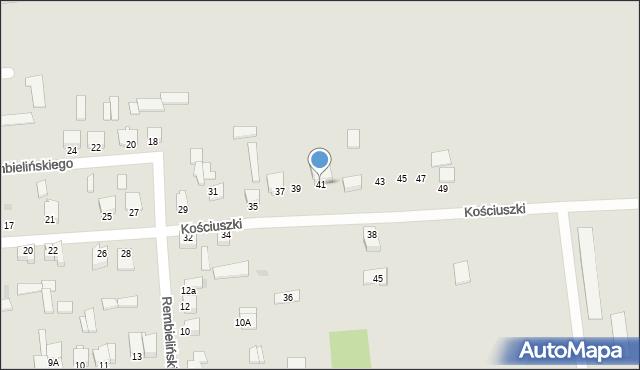Jedwabne, Kościuszki Tadeusza, gen., 41, mapa Jedwabne