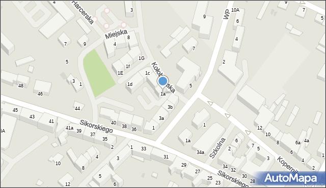 Kętrzyn, Kołobrzeska, 1a, mapa Kętrzyn