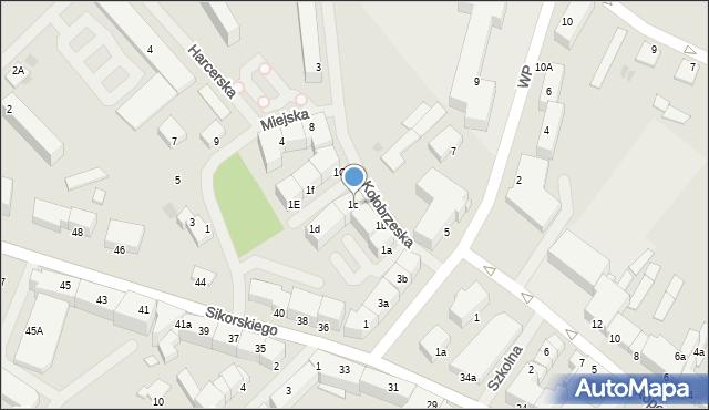 Kętrzyn, Kołobrzeska, 1c, mapa Kętrzyn
