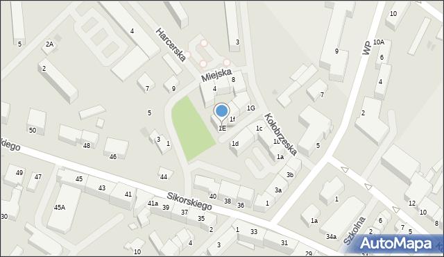 Kętrzyn, Kołobrzeska, 1E, mapa Kętrzyn