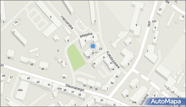 Kętrzyn, Kołobrzeska, 1f, mapa Kętrzyn