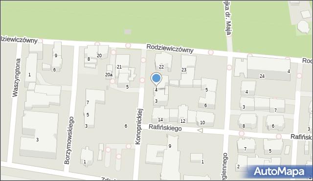 Kołobrzeg, Konopnickiej Marii, 4, mapa Kołobrzegu