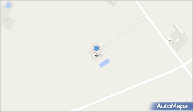 Kolonia Łowiczek, Kolonia Łowiczek, 55, mapa Kolonia Łowiczek
