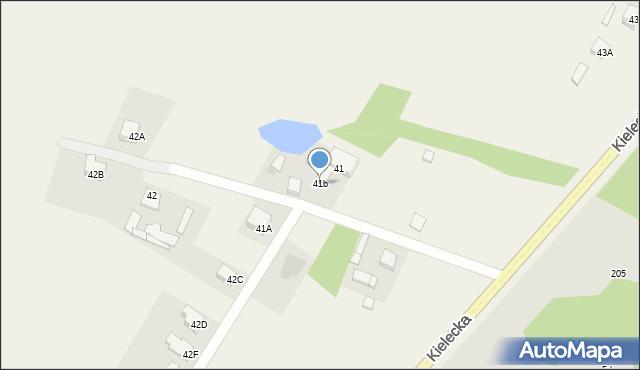 Kończyce-Kolonia, Kończyce-Kolonia, 41b, mapa Kończyce-Kolonia