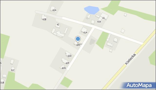 Kończyce-Kolonia, Kończyce-Kolonia, 42C, mapa Kończyce-Kolonia