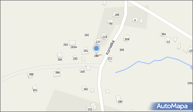 Kornatka, Kornatka, 290, mapa Kornatka
