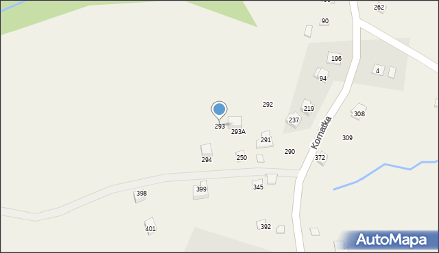Kornatka, Kornatka, 293, mapa Kornatka