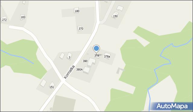 Kornatka, Kornatka, 378, mapa Kornatka