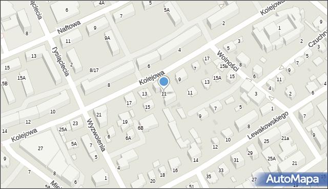 Krosno, Kolejowa, 11, mapa Krosna
