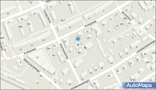 Krosno, Kolejowa, 19, mapa Krosna