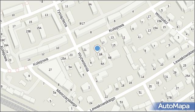 Krosno, Kolejowa, 21A, mapa Krosna