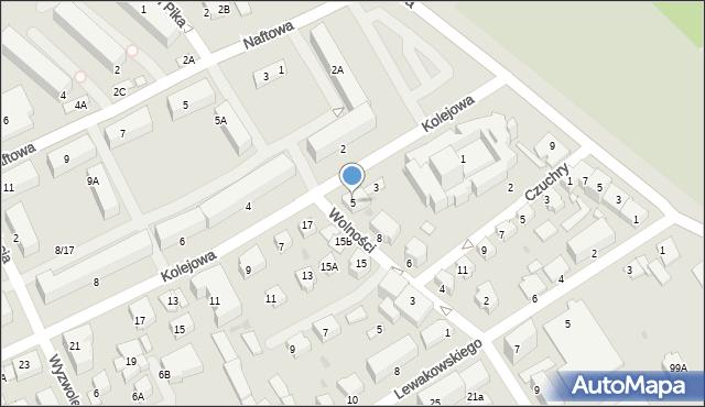Krosno, Kolejowa, 5, mapa Krosna