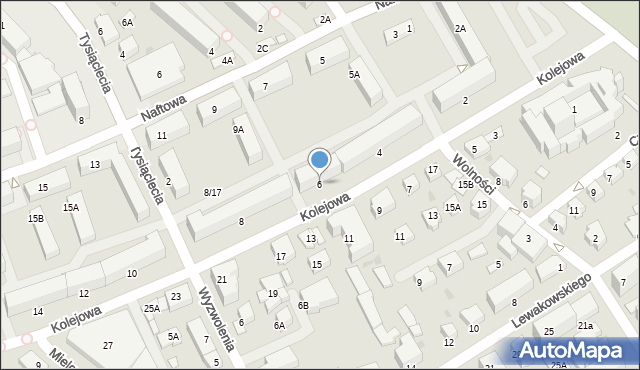 Krosno, Kolejowa, 6, mapa Krosna