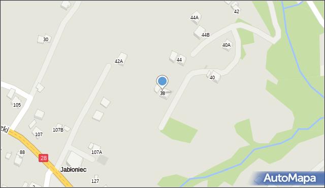 Limanowa, Kochanowskiego Jana, 38, mapa Limanowa