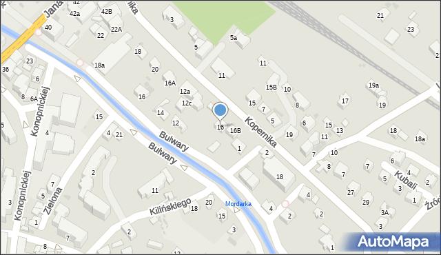 Limanowa, Kopernika Mikołaja, 16, mapa Limanowa