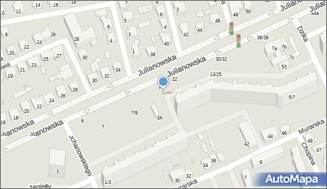 Łódź, Kochanowskiego Jana, 1, mapa Łodzi
