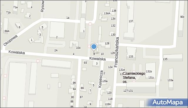 Łódź, Kowalska, 8, mapa Łodzi