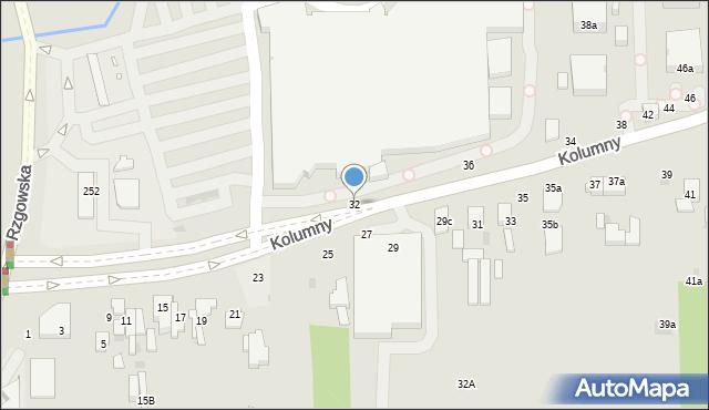 Łódź, Kolumny, 32, mapa Łodzi