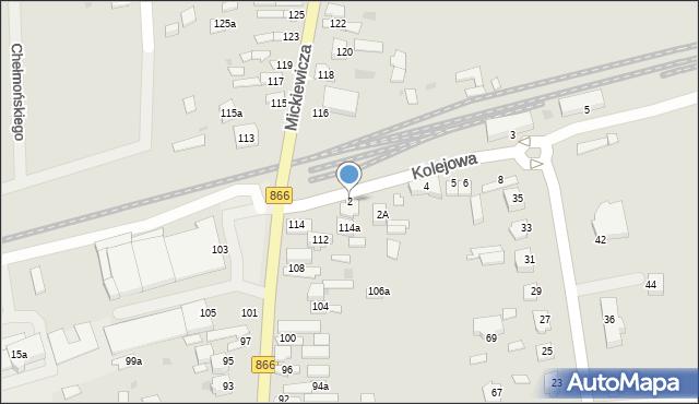 Lubaczów, Kolejowa, 2, mapa Lubaczów